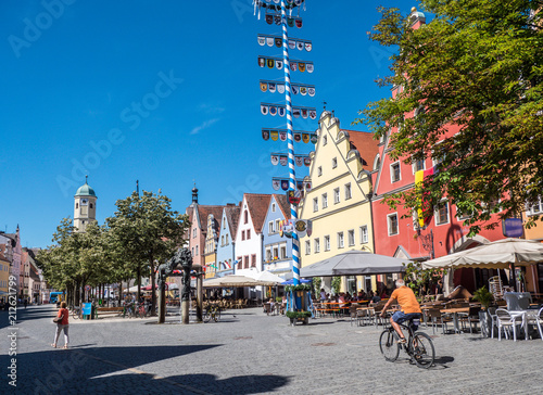 Obraz Weiden in der Oberpfalz Altstadt - fototapety do salonu