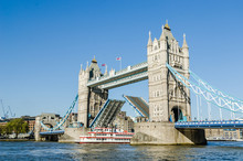 Ship Passing Under Tower Bridge