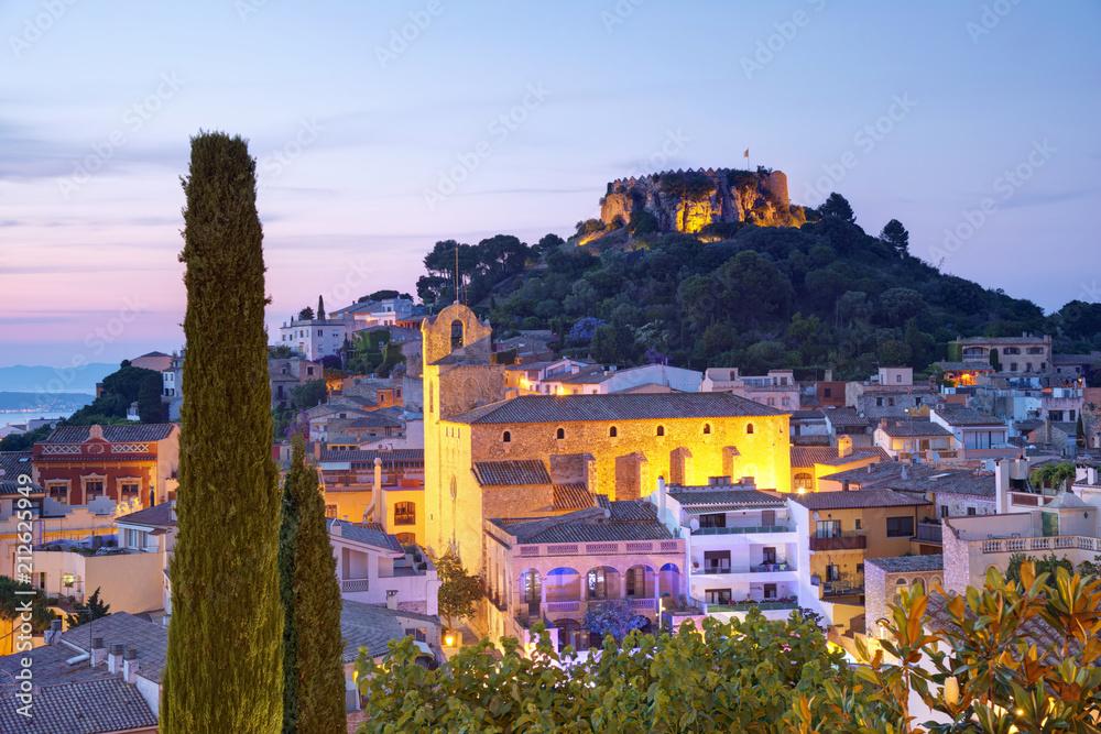 Photo Art Print Famous Begur Near Barcelona And Girona Costa