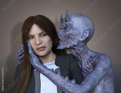 Obraz na płótnie Her demonic Inner Voice
