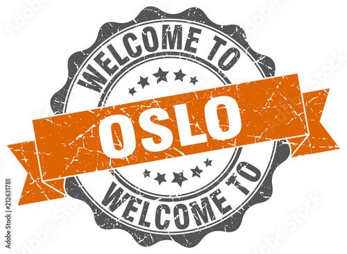 Oslo round ribbon seal Poster