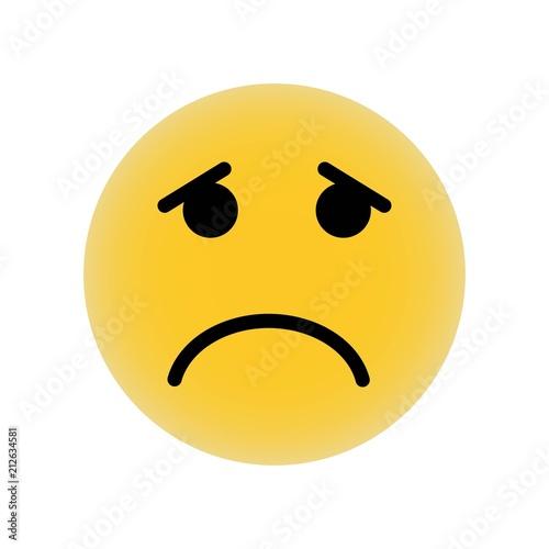 Sad Emoticon Square Face Icon Vector Icon Simple Element