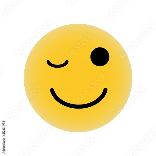 Wink Emoticon Of Rounded Square Face Icon Vector Icon Simple