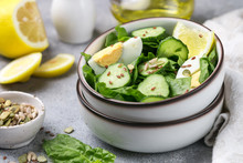Useful Spinach Salad, Cucumber...