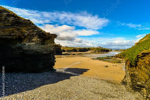 Poster Oceanië Playa de las Cathedrales - Galicia - Spain