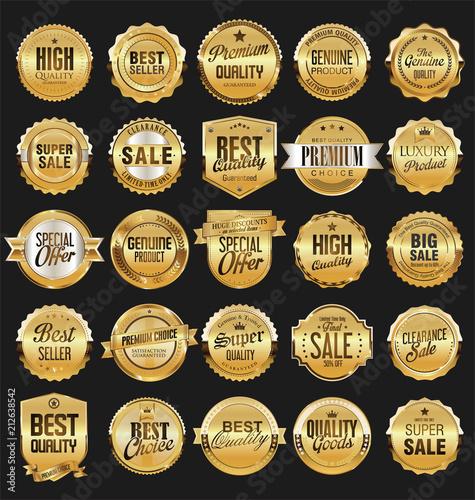 Fotografía  Retro vintage badges collection