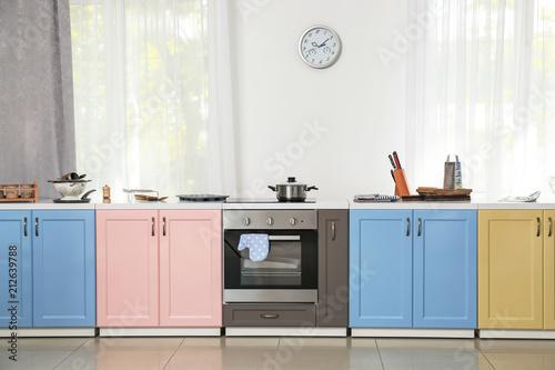Bright modern kitchen interior
