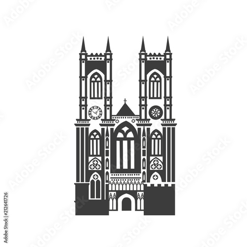 Fotografía  Vector icon of Westminster Abbey