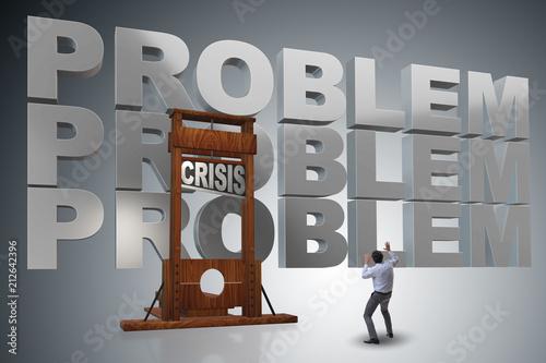 Fotografia, Obraz  Businessman in crisis business concept