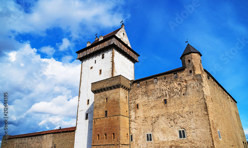 Foto op Canvas Historisch geb. View of Hermann Castle in Narva, Estonia.