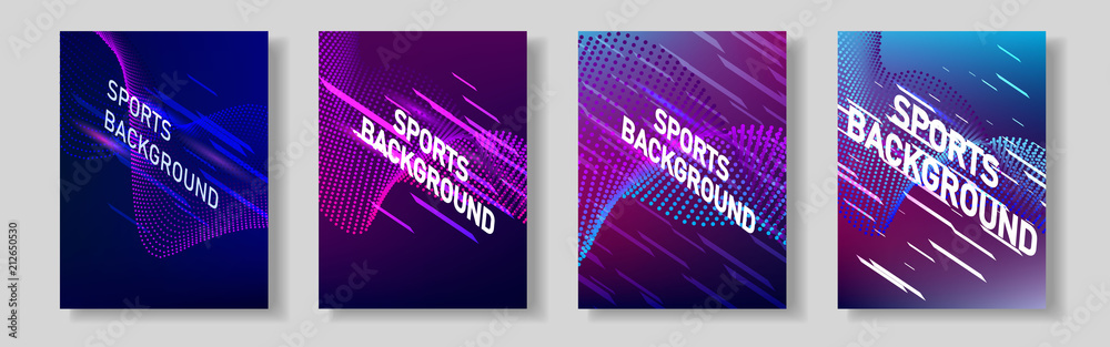 Fototapety, obrazy: Color network of sports covers. For your design.
