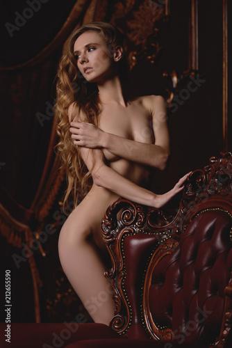 Foto op Aluminium Akt naked woman posing