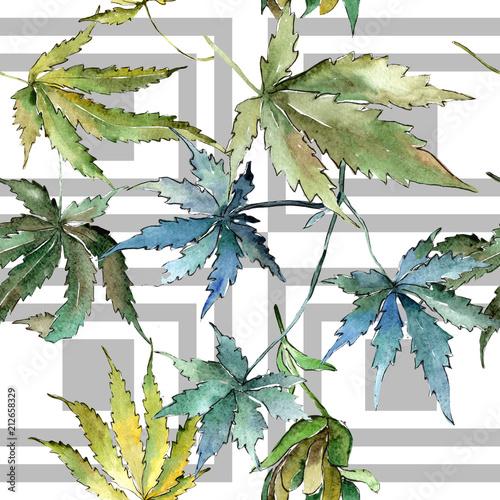 zielone-liscie-konopi-w-stylu-akwareli-bezszwowe-tlo-wzor-tekstura-tkanina-tapeta-lisc-aquarelle