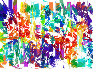 Grunge art color painting background.