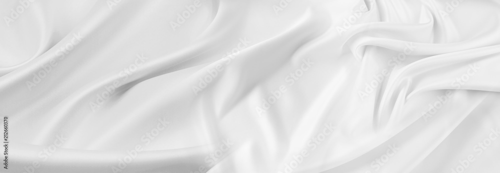 Valokuva White silk fabric