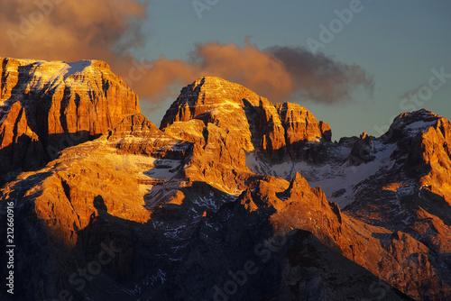 Fotografia Brenta Dolomites in sunset light, Italy, Europe