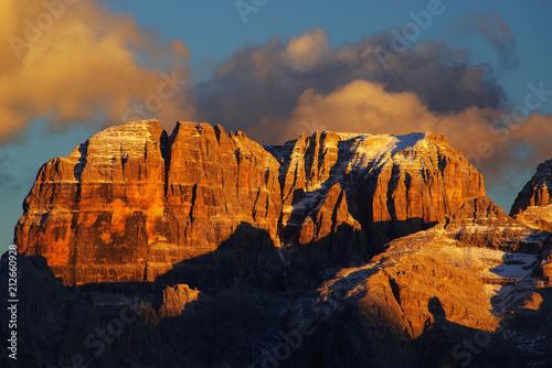 Canvas Brenta Dolomites in sunset light, Italy, Europe