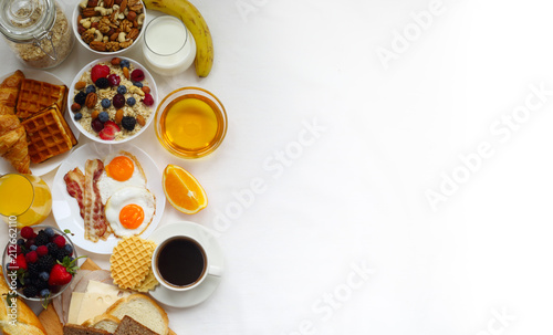 Stampa su Tela Healthy breakfast background