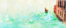 Venice. Watercolor Background