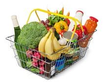 Shopping Basket Full Of Grocer...