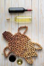 Marine Turtle Composed Of Wine...