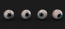 3d Rendering, Realistic Human Eye Model