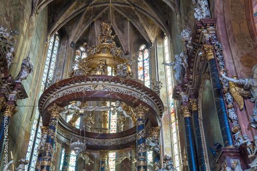 Bogate Wnętrze Katedry w Świdnicy Slika na platnu