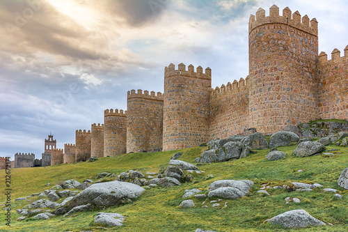 Walls of Avila, World Heritage Site in Spain