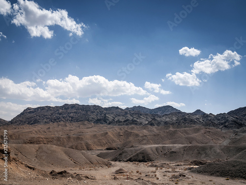 Fotobehang Cappuccino dry desert landscape view near yazd in southern iran