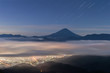 Mt.Fuji with sea of clouds in summer , Seen from Mt.Kushigata