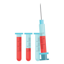 Syringe With Blood Design