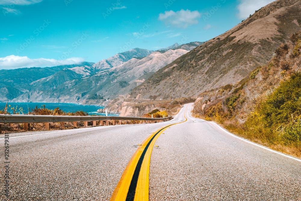 Fototapeta Famous Highway 1 at California Central Coast, Big Sur, USA