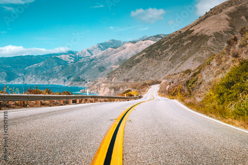 Foto op Canvas Verenigde Staten Famous Highway 1 at California Central Coast, Big Sur, USA