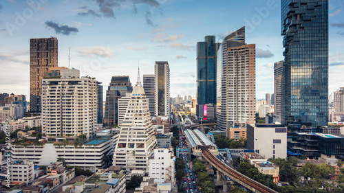 Staande foto Stad gebouw Bangkok downtown and business financial district,Urban skyscrapers landscape