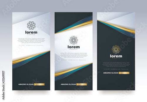 Fotografie, Obraz  Vector set packaging templates nature luxury or premium products