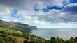 4K. Movement of the clouds on the mountain bay Aya. Crimea, Russia (TimeLapse)
