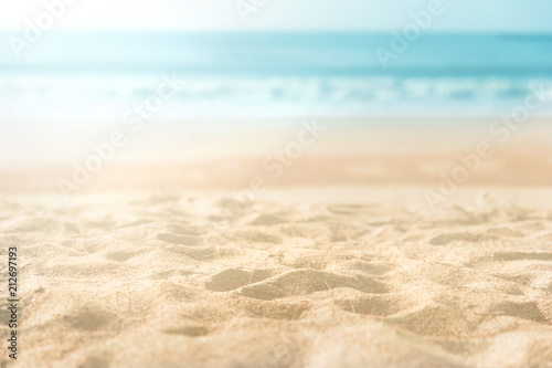 beautiful sand beach Canvas Print