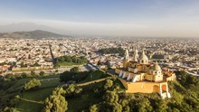 Beautiful Aerial View Of Puebl...
