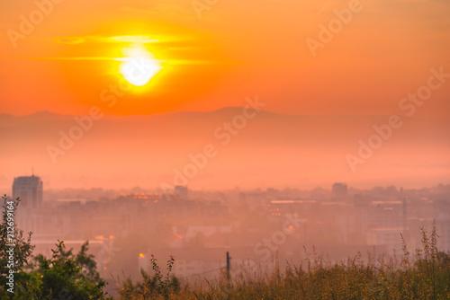 Spoed Fotobehang Oranje eclat Beautiful sunset