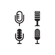 Microphone Logo Icon Template