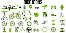 Bike Icon Set Vector.