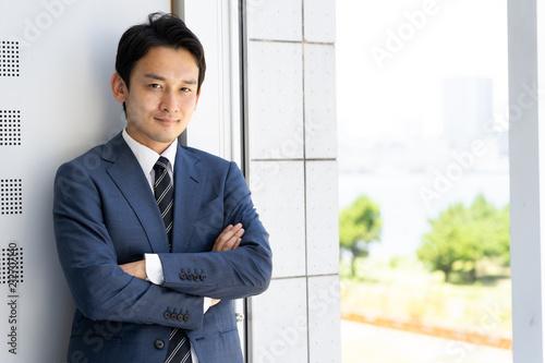 Fotografie, Obraz  portrait of asian businessman relaxing