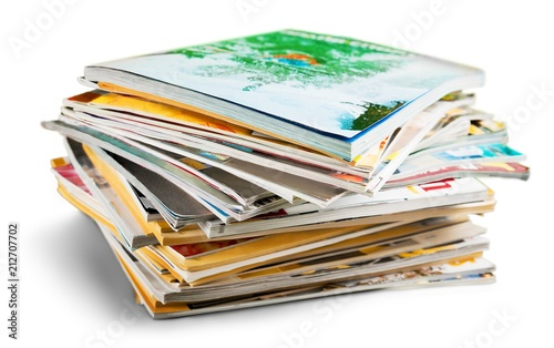Fotografie, Obraz  Stack of Magazines