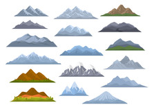 Different  Cartoon Mountains S...