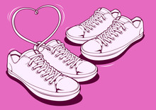 Hand Drawn Sneakers, Graphic V...