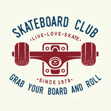 Skateboard Club Badge. Vector ...