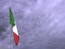 Flag Of Italy Hanging Down Dan...