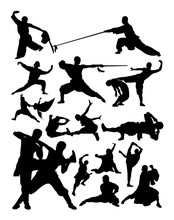 Silhouette Of Shaolin Martial ...