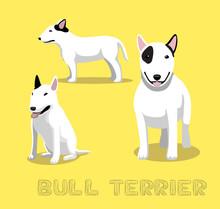 Dog Bull Terrier Cartoon Vector Illustration
