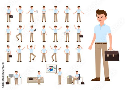 Fotografía  Business man in casual office look cartoon character set
